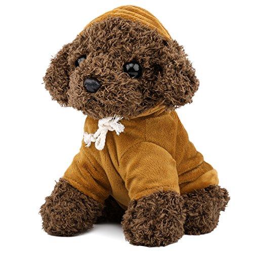 Zooawa Bett Zeit Stofftier Spielzeug, niedlichen weichen Plüsch Pudel Teddy Hund Figur Braun -