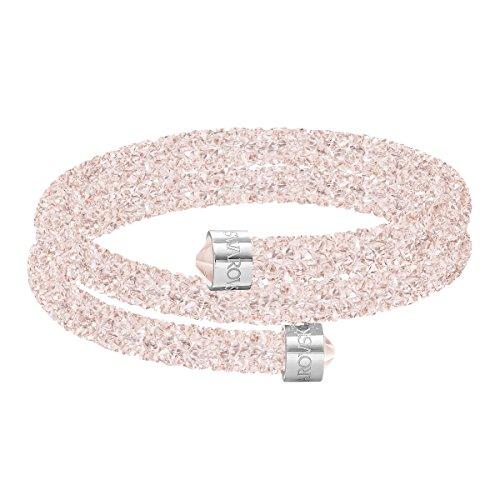 Swarovski Brazalete Crystaldust Double, rosa
