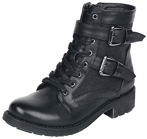 Rock Rebel by EMP Waxed Canvas Boot Anfibi/Stivali nero EU40