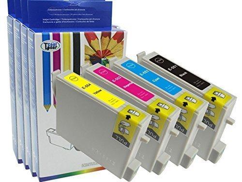 Preisvergleich Produktbild 4 Tintenpatrone kompatibel fuer T0551 T0552 T0553 T0554 fuer Epson Stylus Photo RX420 RX425 RX520 R240 R245 mit CHIP