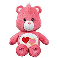 Care Bears JP40361 Love a Lot 35 Centimeter Bear Soft Medium Plush Pink Toy With DVD