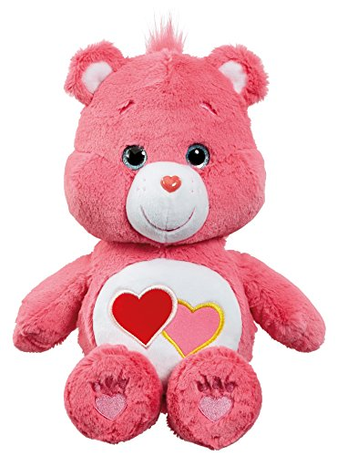 Care Bear Love-a-Lot Bär Plüsch Spielzeug mit DVD (mittel)