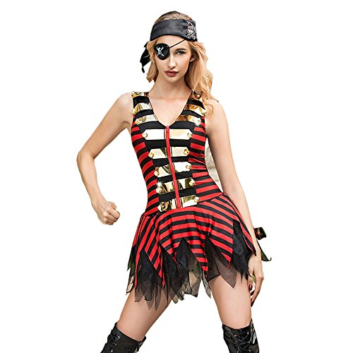 eizvolle Uniformen Dessous Kostüme Halloween Cosplay Weibliche Piraten Outfits Sets ()