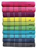 Betz Badetuch XXL Strandtuch Lines 100% Baumwolle Größe 90 x 180 cm Farbe lila