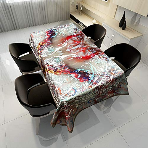QWEASDZX Modern Style Tischdecke Anti-Fleck Tischdecke Tischdecke für wiederverwendbaren Esstisch Rechteckiger Tisch Geeignet für den Innen- und Außenbereich 100x140cm -