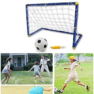 DeeXop Portable Folding Football Door Toy Set Soccer Set Football Gate For Children