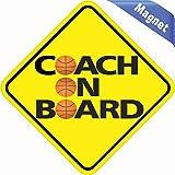 stickertalk. COM md-20-24in X 4,5(114114mm) Basketball Coach On Board Vinyl Bumper Magnet KFZ Aufkleber 11,4x 11,4cm (114x 114mm)