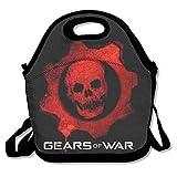 Negro Gears Of War 4Unisex bolsa para el almuerzo para mujer hombre...