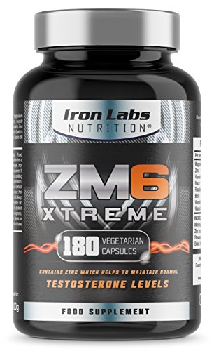 ZM6 Xtreme - 2,100mg | 180 Vegetarian Capsules | 2-3 month supply | Zinc Magnesium Supplement (Officially Licensed ZM6) | Contains Zinc for Testosterone Levels