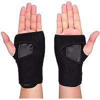 Zooron Attelle de poignet Attelle élastique à la main support Palm Brace réglable Sangles Velcro avec protection en métal amovible Attelle Stablizer pour tendinite du canal carpien arthrite douleur