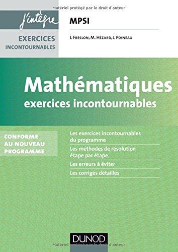 Mathmatiques Exercices incontournables MPSI - 3e d.: Conforme  la rforme 2013