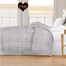 Coozly 300 TC 100% Cotton Duvet | Comforter with Soft 350 GSM Coozly SleepCare Filling. (Single, Grey)