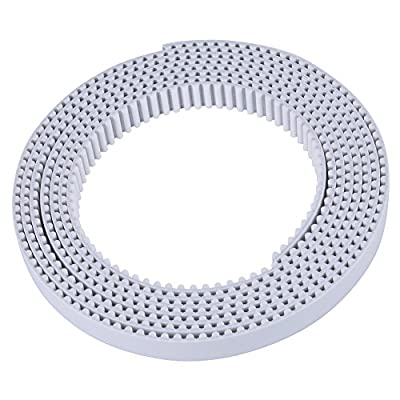 1/3/10 Meter HTD Open Timing Belt White Polyurethane Belt for 3D Printer CNC Engraving Mechines 15/30mm Width (3M 30mm)