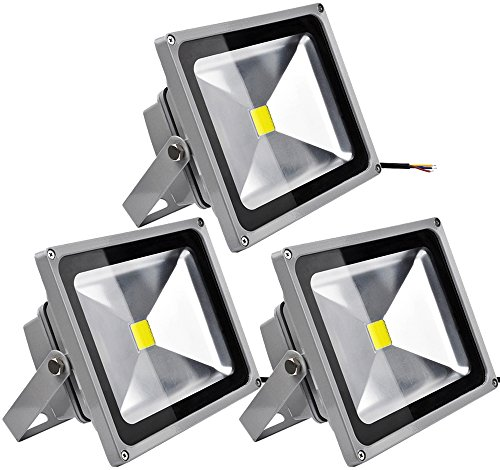 20W 50W LED Strahler Fluter IP65 Außen Flutlicht Leuchtmittel Scheinwerfer Kaltweiß Wandstrahler (3X 30W Kaltweiß) (30w Kurze)