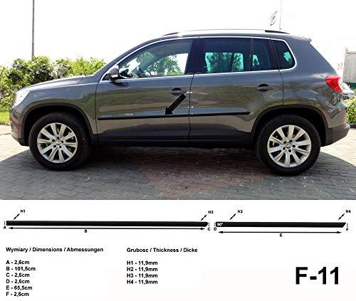Spangenberg Seitenschutzleisten schwarz für Volkswagen VW Tiguan ab Facelift Baujahre 07.2011- F11 (370001119)
