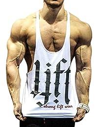 mioim Herren Lift Bodybuilding Tank Top Männer Ärmellos Stringer Gym  Fitness Sport Tankshirt T-Shirt cd251c04d4