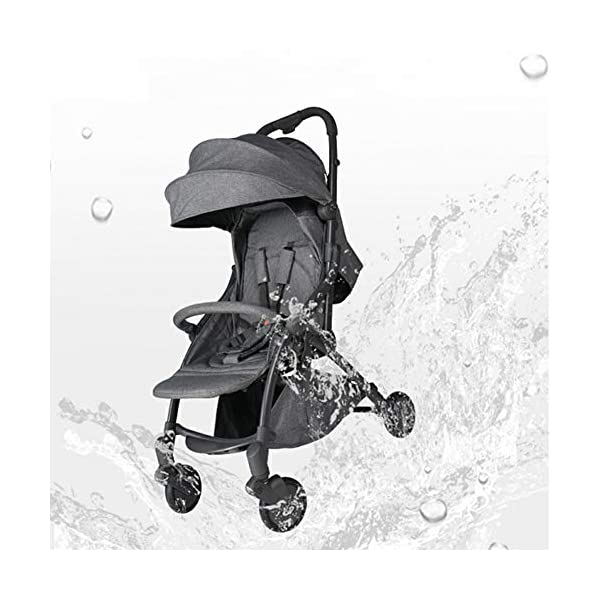 Pushchair 2 In 1 Baby Stroller Travel System,Baby Trolley Newborn Baby Carriage Foldable Can Sit And Lie Down Damping Baby Cart For 1 Month -5 Years Old Ydq TRAVEL ANYWHERE - Airplane travel stroller designed for airplane overhead compartment. It's super compact when folded. With extendable pull rod, it could be dragged anywhere you go with no effort instead of lifting it with your hand. COMFORTABLE SEAT - Lightweight pushchair with reclining backrest enables your baby to rest better in the well-padded seat. The pads on the headrest will help keep your baby's head in position even if it's asleep. The angle of legs support could also be adjusted, providing the most joyful ride for your baby. EASY USAGE - One-hand foldable buggy makes taking your baby for travels or walks a simple pleasure. It could stand on its own so you could take care of your baby with less things to worry about. 4