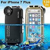 waterproof case Coque étanche For iPhone 7/7 Plus IPX8 waterproof 40M Diving Case By AIGUMI (IP7S-noir)