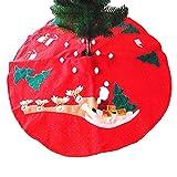 DELEY Weihnachts Neuheit Dekorationen Dekor Santa Xmas Bestickt Baum Rock Christbaumständer Große Weihnachtsbaumdecke Weihnachtsschmuck Durchmesser 39.37 Zoll
