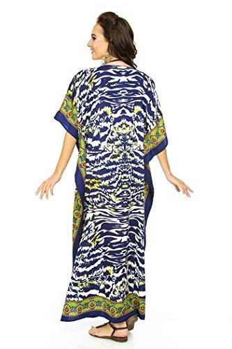 Nuovo Da Donna, Oversize Maxi Kimono Kaftan Tunica Abito Caftano Taglia Unica 17004-NAVY