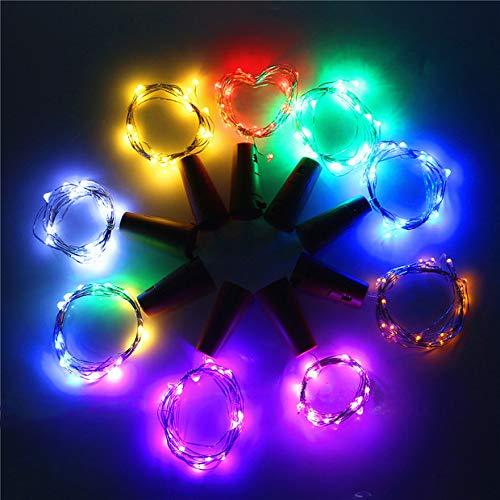 CTlite Weinflaschen-Lichter mit Kork, 9 LEDs, silberfarben, Korken, Draht-Lampe, Stimmungs-Lichterkette für Flasche, DIY Party, Dekoration, Weihnachten, Halloween, Hochzeit (Eine Party Diy Halloween-dekorationen Für)