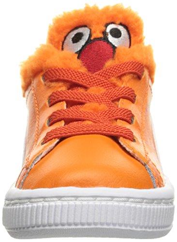 Puma Basket Sesame Cm Ac Inf Leder Turnschuhe Dandelion-Vibrant Orange-Black
