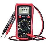 Topop Multímetro digital con función de prueba de batería, Medidor de amperios / voltios / ohmios, Multitester manual / VOM para medición de voltaje /