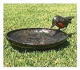 Delightful RSPB Metall rot Robin Vogel Bad, 20cm Dia–Teil der handgefertigt tilnar Fair Trade Serie