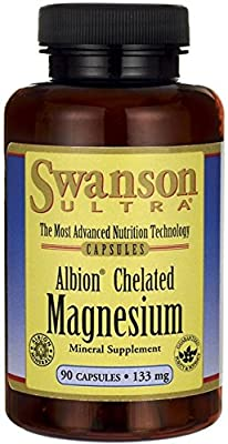 Swanson Ultra Albion Chelated Magnesium (133mg, 90 Capsules) from Swanson Health Products