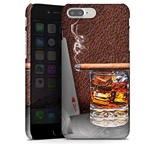 Apple iPhone X Silikon Hülle Case Schutzhülle Zigarre Whiskey Karten Premium Case glänzend