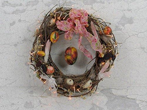 Ostern, Oster Dekoration mit Licht 3, Türkranz -