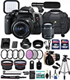 #3: Canon Eos Rebel T6i 24.2 MP DSLR Camera with Canon EF-S 18-55mm f/3.5-5.6 is STM Lens + 32GB & 16GB Memory Cards + Professional Kit + Accessory Bundle (Professional Video Kit)