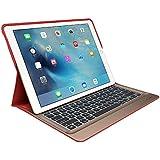 Logi Create Case avec rétroéclairage et Smart connecteur clavier pour iPad QWERTZ Pro (, Clavier allemand) Rouge/Or