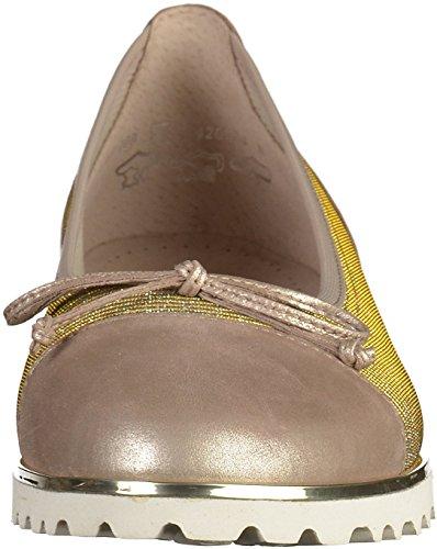 Gabor Damen Jollys Geschlossene Ballerinas Gold(Platinum)