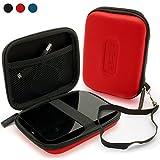 igadgitz Hartschalentasche Hardcase aus EVA-Stoff: Etui Schutzhülle Tasche Hülle Case in Rot für bestimmte tragbare externe Festplatten 2,5