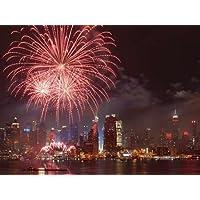 Feeling at home, Stampa artistica x cornice - quadro, fine art print, 4 luglio Fireworks a New York City cm