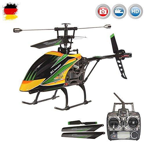 4.5 Kanal 2.4GHz RC Ferngesteuerter XL Outdoor Hubschrauber mit HD-Kamera, Crash-Kit RTF