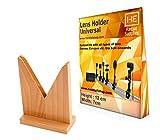 #4: Wooden Lens holder universal V shape, for convex, concave lens, mirrors (1 pcs)