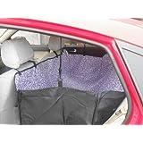 Yeme Oxford Cubierta de asiento protector del recorrido posterior del coche para Mascotas Perros doble capa impermeable (púrpura)