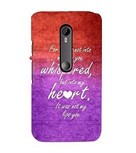 EPICCASE romantic quotes Mobile Back Case Cover For Moto X Play (Designer Case)
