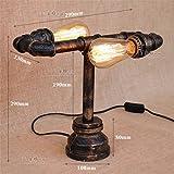YU-K Kreative Lampen der kreativen Lampen der Tischlampen kreative industrielle Lampen des industriellen Wassers helle Cafébar-Rohrlampen