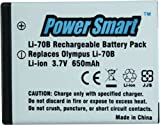 #7: Power Smart 650mAh Replacement for Olympus Li-70B Rechargeable Li-ion Battery
