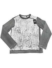 1b47d754be25 Fendi 6599G Maglia Bimbo Grigio Verde Cotone Manica Lunga t-Shirt Kids