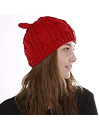 Cappello alla moda lavorato a maglia caldo cappello femminile in autunno e  inverno jacquard 8 parole b7ef077365f0