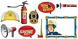 Amscan Fotorequisiten-Set Feuerwehrmann Sam 9-teilig