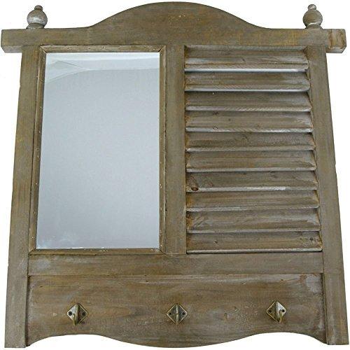 Shabby-Espejo-de-pared-Viejo-Carga-de-la-ventana-con-espejo-y-Gancho-Estilo-rstico