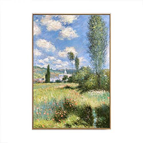 Gbwzz Handgemaltes Ölgemälde Moderne impressionistische Landschaft Ölgemälde Porch Büro Studie dekorative Malerei, 30 × 40 cm