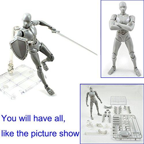 MAyouth Action Man Figur Modell 2.0 Körper Kun Puppe PVC Body-Chan Männlich Weiblich Action Figure DX Set mit Spielzeug-Gesten Cellphone Kit zum Zeichnen Skizzieren von Malerei