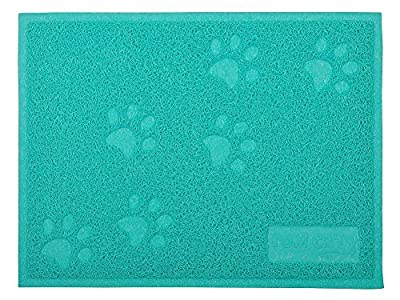 Cat Litter Box Debris Catcher Mat,Kitty Scatter Control Rug,16x12 Inches,2 Colors Available