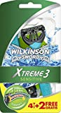 Wilkinson Sword Extreme 3 Sensitive Rasoio Usa e Getta - Confezione da 6 Rasoi